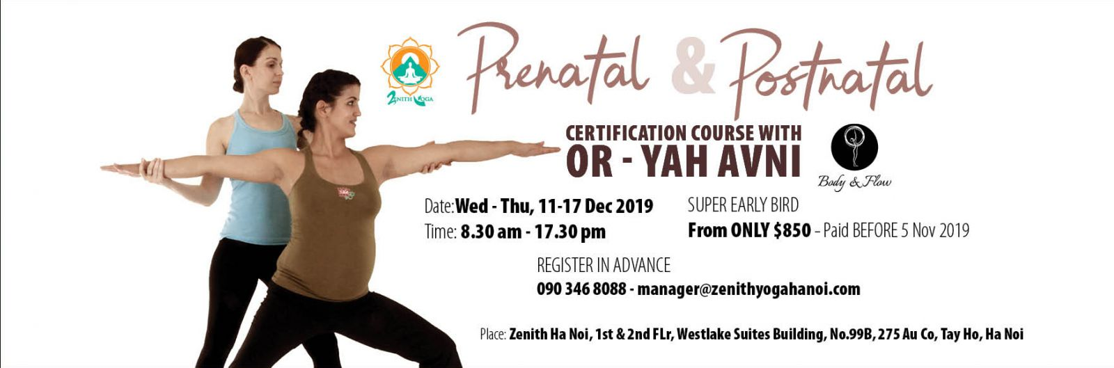 PRENATAL & POSTNATAL CERTIFICATION COURSE